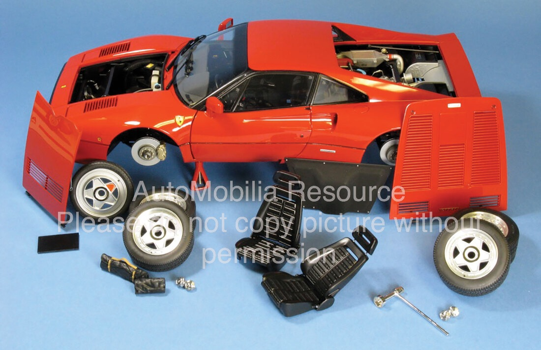 Ferrari-288-GTO-Model-Car-In-Pieces