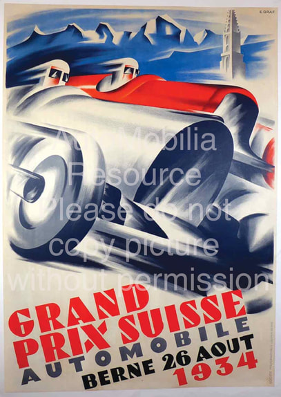 1934 Swiss Grand Prix poster Graf